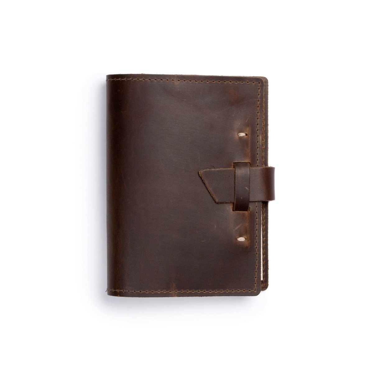Rustico's Refillable Leather Journal Wasatch Notebook! Classy Softcover Writing Notebook In Dark Brown, Writers Notebook, Markings Journal, 192 pages, Made in USA (Dark Brown)
