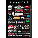 Television Friends Infographic Phrases & Quotes Maxi Poster 61x91.5cm
