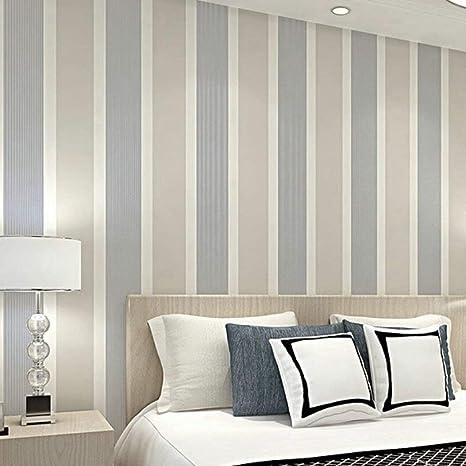Papel Pintado Pared Rayas Mural Para Dormitorio Sala de Estar 0.53 * 10m (Rayas Verticales)