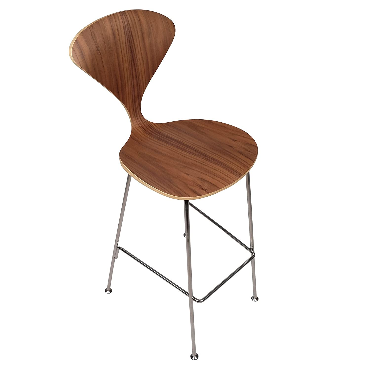 Amazon Com Cherner Inspired Bar Stool With Metal Legs Home Kitchen