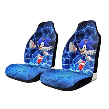 Amazon Com Sonic The Hedgehog Car Seat Covers Universal Automotive Seat Protector Fits For Most Car Suv Sedan Truck 2 Pcs Baby