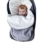 Newborn Baby Swaddle Blanket Wrap, Thick Baby Kids Toddler Knit Soft Warm Fleece Blanket Swaddle Sleeping Bag Sleep Sack Stroller Unisex Wrap for 0-12 Month Baby Boys Girls (Grey)