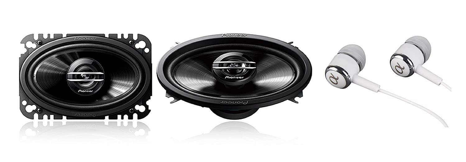 "Pioneer TS-G4620S 400 Watts Max Power 4"" X 6"" 2-Way G-Series Coaxial Full Range Car Audio Stereo Speakers"