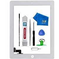 MMOBIEL Digitizer Display Glas für IPad 2 (Weiss) 9.7 Inch Touchscreen Ersatzteil Inkl Flex Home Button + Kamera Halterung + Klebesticker und Werkzeugset mit Anleitung