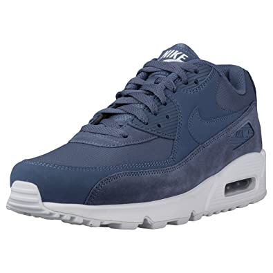 save off 6c4fc 70650 Nike Herren Air Max 90 Essential Dunkelblau Leder Synthetik Textil Sneaker  41 EU,