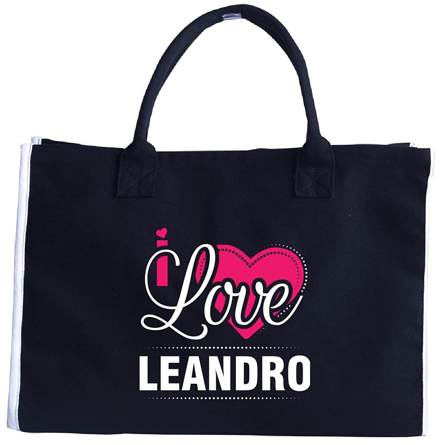 I Love Leandro - Cool Gift For Leandro From Girlfriend - Tote Bag