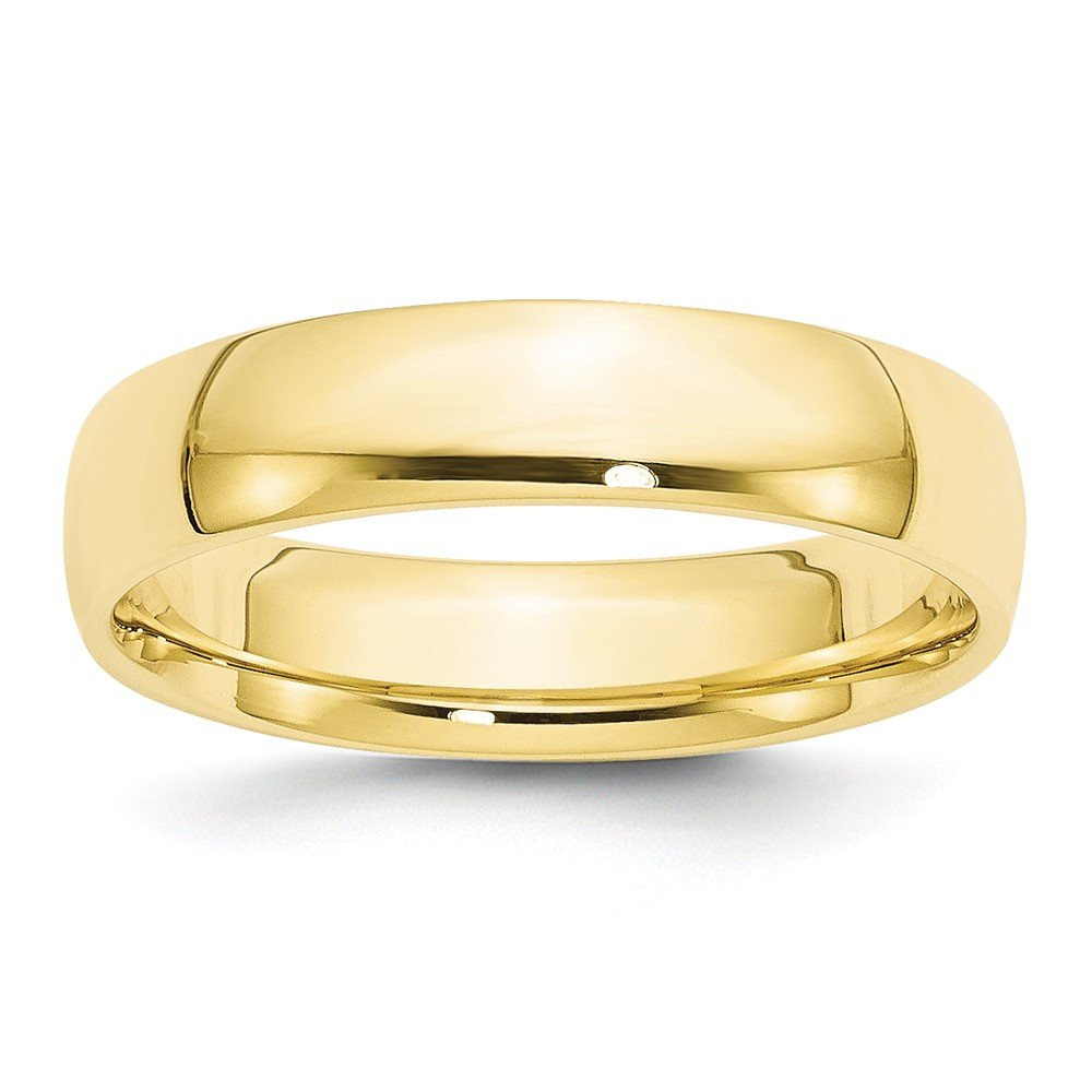 Solid 10k Yellow Gold 5mm Comfort Fit Wedding Band Size 8.5