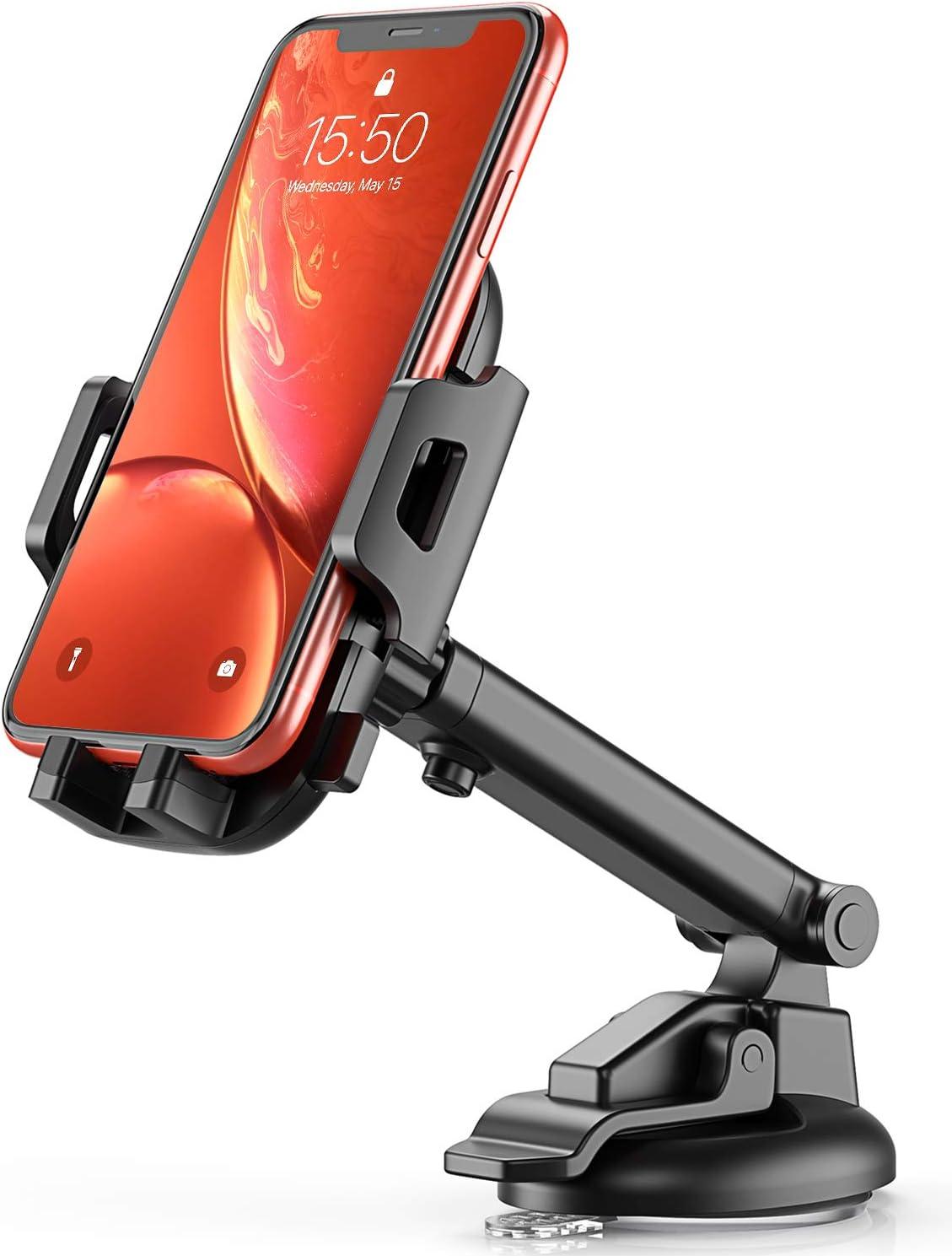 Bovon Soporte Móvil Coche de Rejillas de Ventilación, 360 Grados Rotación Base de Montaje Doble, Soporte de Teléfonos para iPhone X XS MAX XR 8 7 6 Plus, Samsung S9 S8 Sony