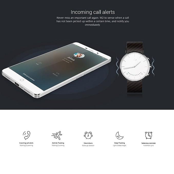 Elephone W2 - SmartWatch Bluetooth Inteligente Reloj Podómetro Call Reminding Remoto de la Cámara para Samsung S6 S6 edge HTC LG Android Smartphone