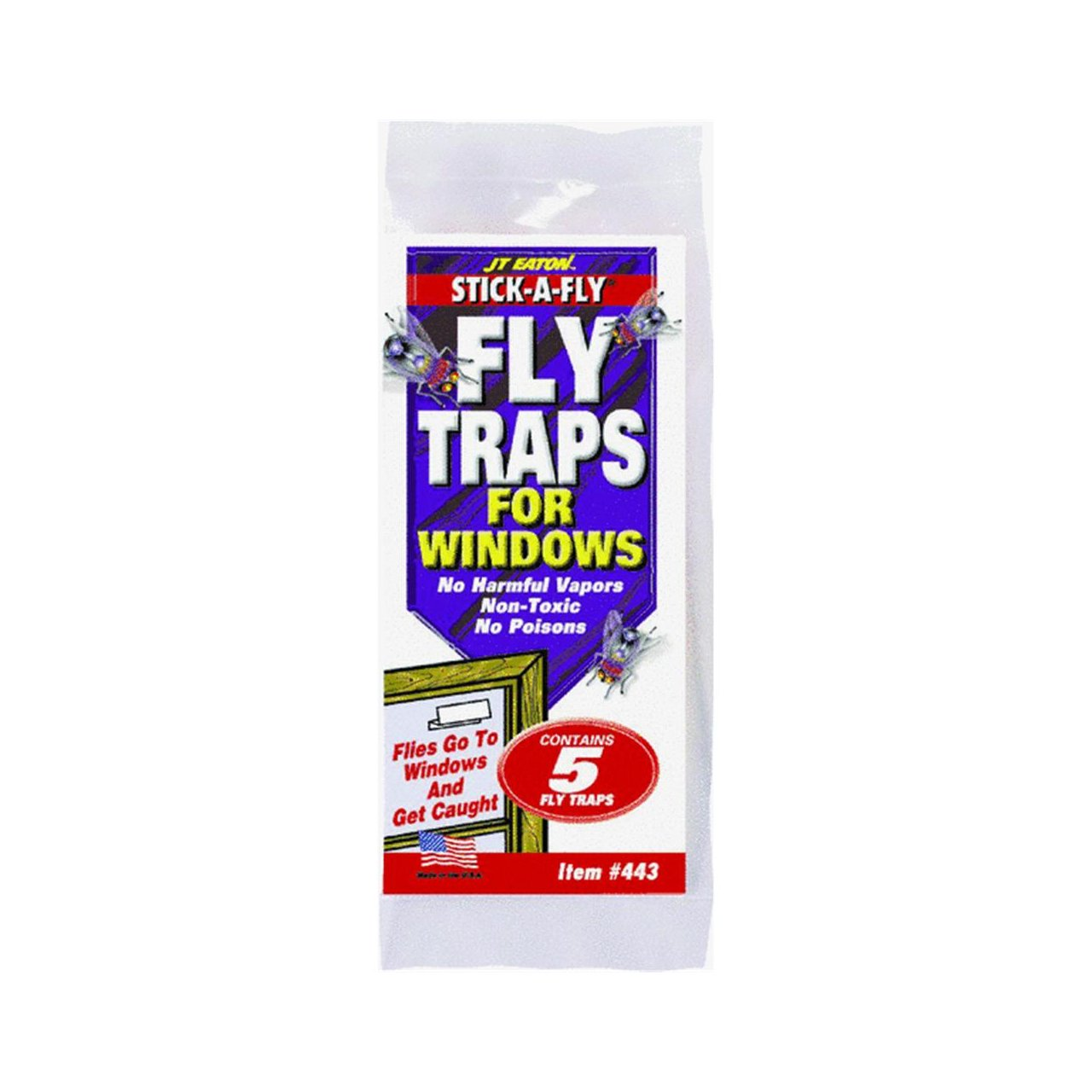 JT EATON443Stick-A-Fly Fly Trap For Windows-5PK WINDOW FLY TRAP (並行輸入品) B002ITSNAK