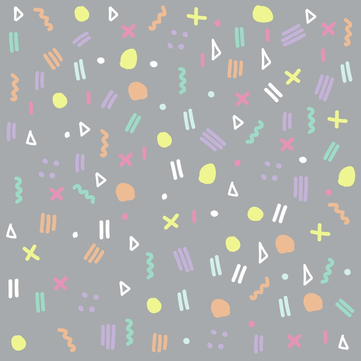 RoomMates RMK3629SCS Fun Confetti Peel and Stick Wall Decals