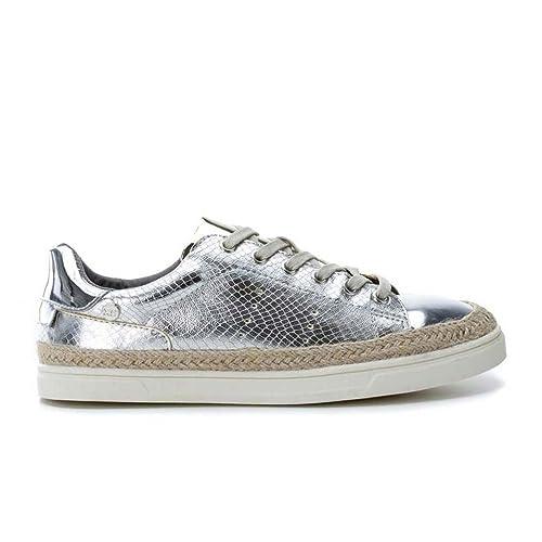 XTI 046703, Zapatillas para Mujer, Plateado (Silver), 41 EU