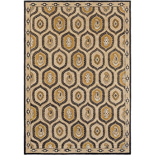 (Surya Ancient Treasures A-173 Hand Tufted Semi-Worsted New Zealand Wool Classic Area Rug, 9-Feet by 13-Feet)