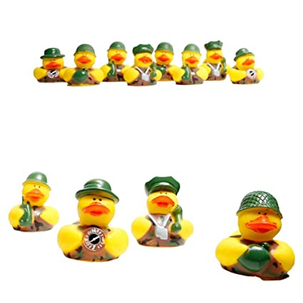 Fun Express Camouflage Rubber Ducks Baby Products package of 12