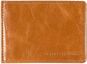 Status Anxiety Men's Leather Perez Money Clip Wallet (Tan)