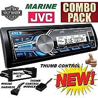 98-2013 Marine Harley Touring Stereo Radio Install Adapter Dash Kit Flht Flhx Flhtc JVC