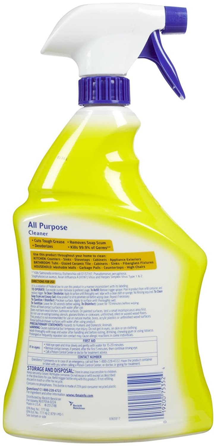 All purpose bathroom cleaner - Amazon Com Lysol Power And Fresh All Purpose Cleaner Lemon Sunflower 40 Ounce Multipurpose Cleaners Grocery Gourmet Food