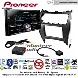 Pioneer MVH-S600BS Double Din Radio Install Kit with Bluetooth USB/AUX Fits 2012-2013 Toyota Camry with Amplified System