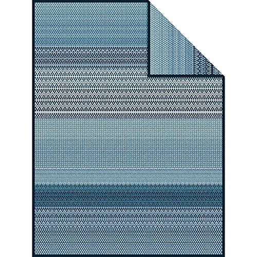 - IBENA Mosaic Tile Dumai Jacquard Throw Blanket