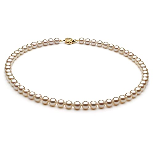 White 6-7mm AAA Quality Freshwater Cultured Pearl Necklace for Women