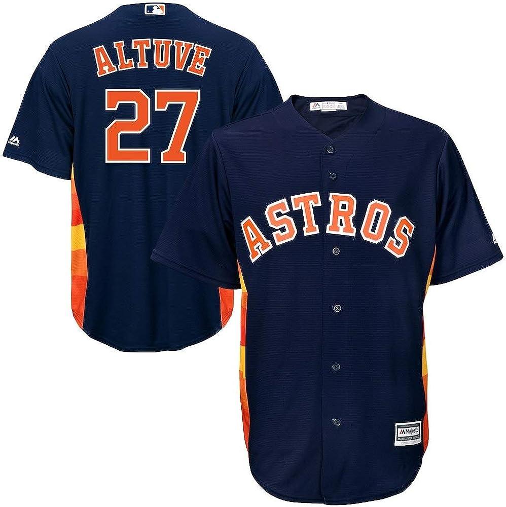 Outerstuff Jose Altuve Houston Astros MLB Majestic Youth Navy Alternate Cool Base Replica Jersey