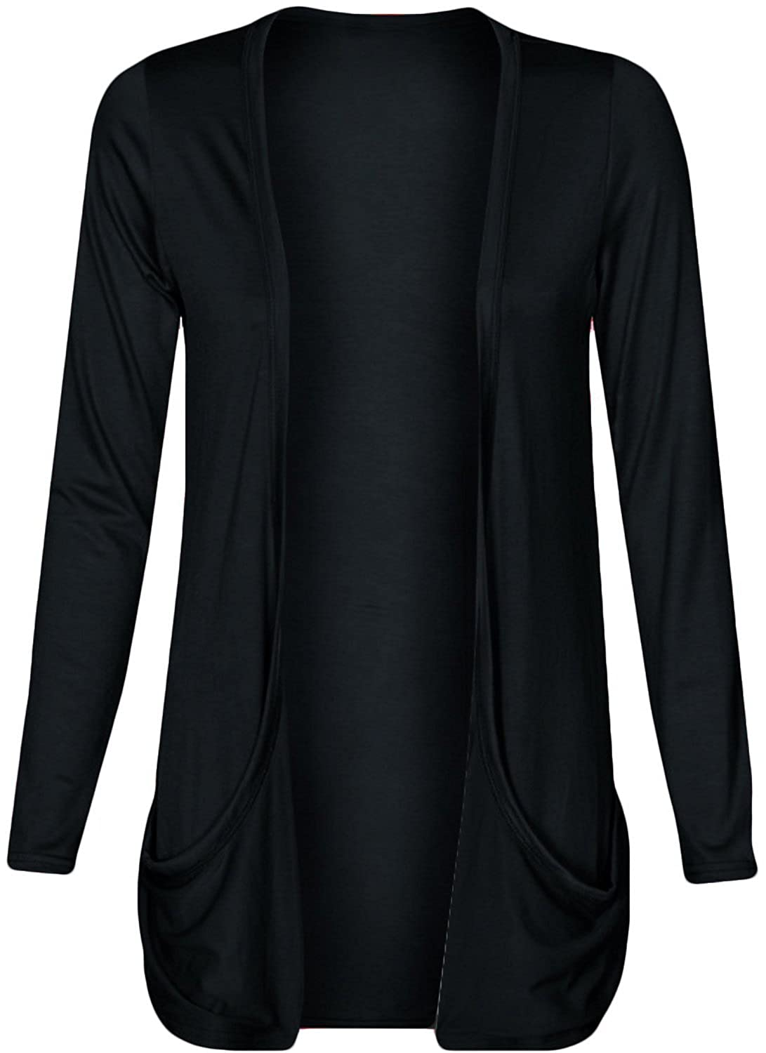 Hot Hanger Ladies Plus Size Pocket Long Sleeve Cardigan 16-26 ...