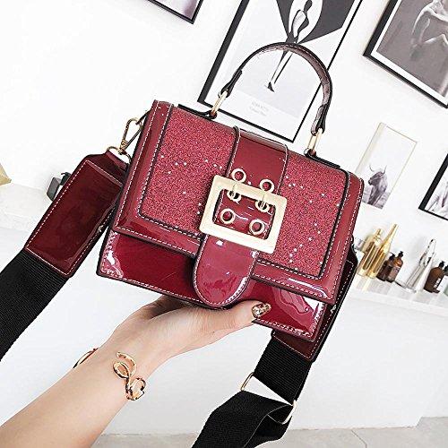 Aoligei Version coréenne à main petit sac carré de la mode cent-épaule-épaule diagonal sac Croix-ascenseur B