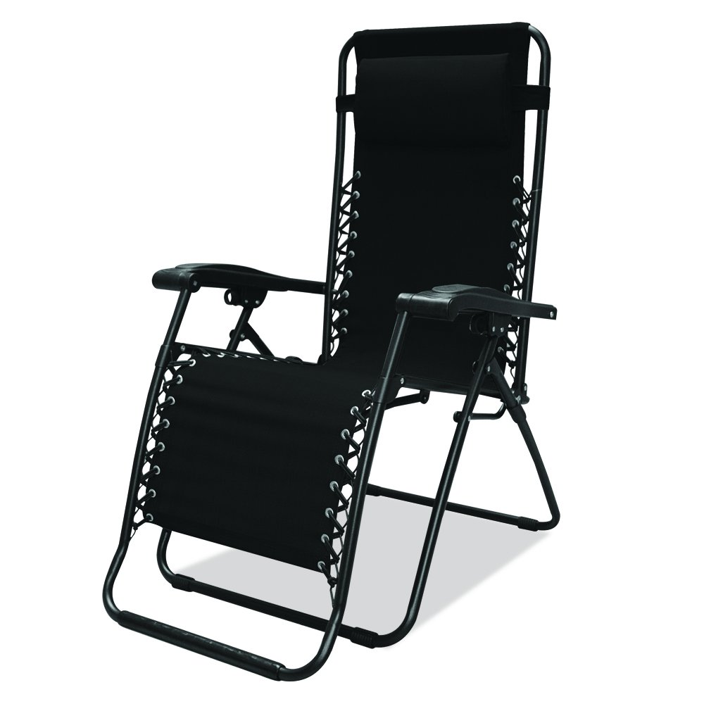 Canopy chair dimensions - Amazon Com Caravan Sports Infinity Zero Gravity Chair Black Patio Recliners Patio Lawn Garden