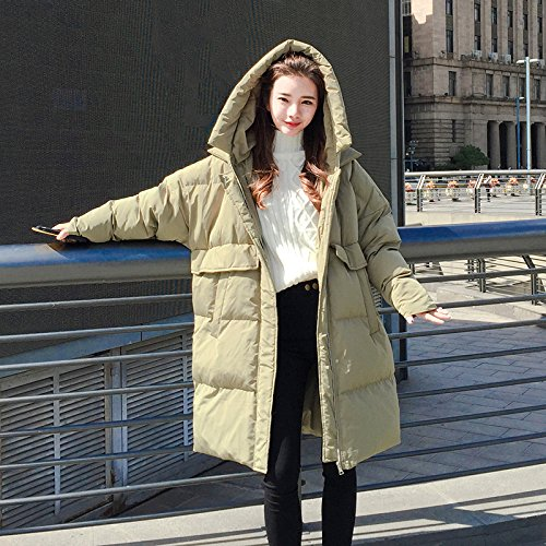To pea Pocket Knee Female Bread Of The Cotton green Jacket Feather A Winter Xuanku Coat wnpOYHnq