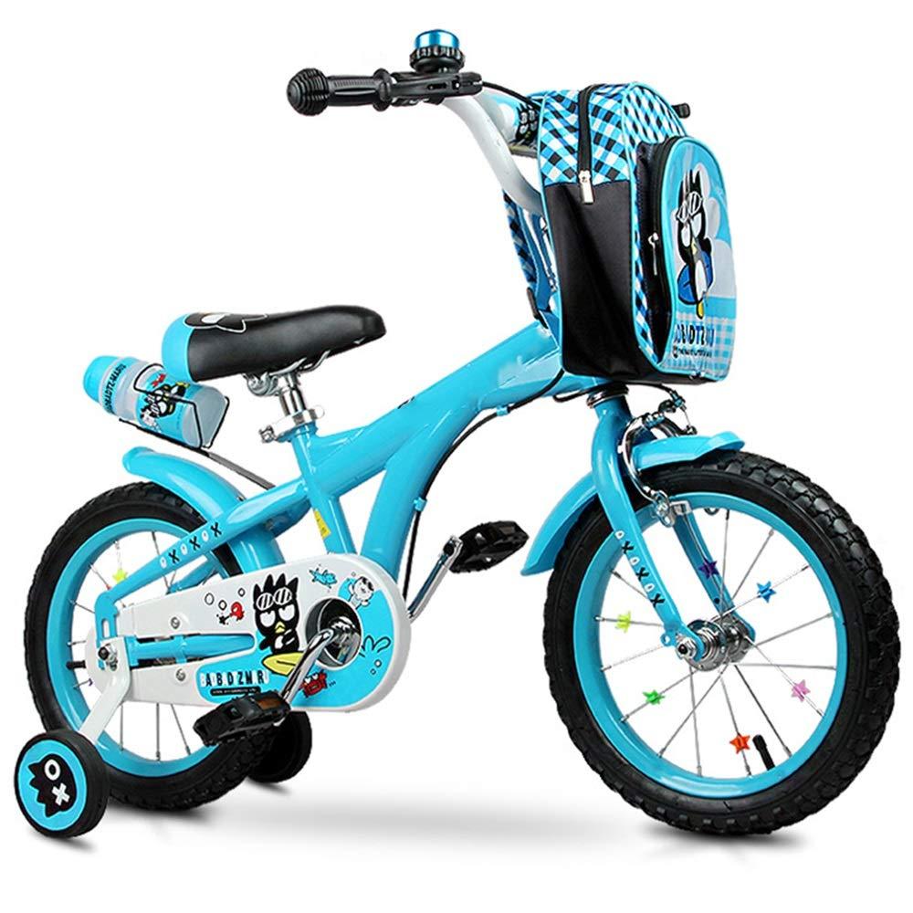 14in YUMEIGE Kinderfahrräder Kinderfahrräder mit abnehmbarem Rucksack Kinderfahrrad 12 14 Zoll Geeignet für Kinder 3-6 Jahre alt Geschenk Blau