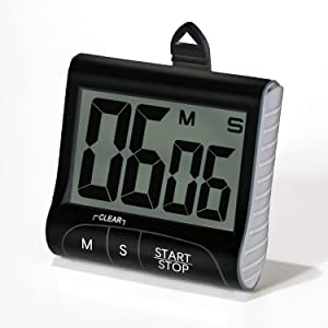 """Digital Kitchen Timer & Stopwatch, with 3"""" Large Display, Bold Digits, Strong Magnetic, Loud Beep, Countdown Kitchen Timer for Cooking, Workout, Portable Study Timer for Teachers, Kids"""