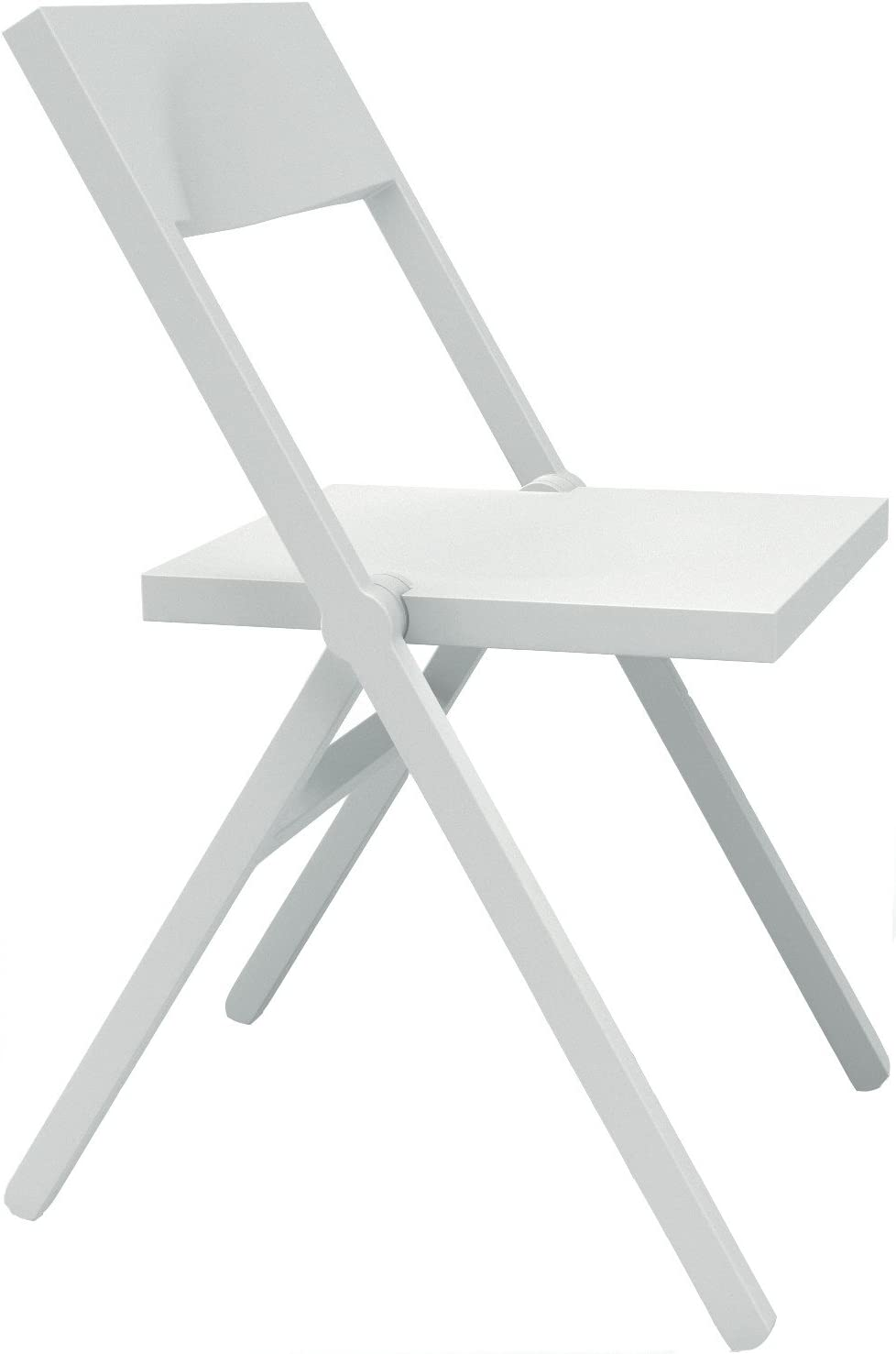 52 x 46 x 90 cm Brown Alessi Folding and Stackable Chair in PP and Fiberglass
