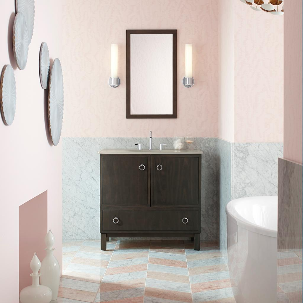 Awesome Amazoncom KOHLER K99517TKR1WC Damask 30Inch Vanity With Toe Kick