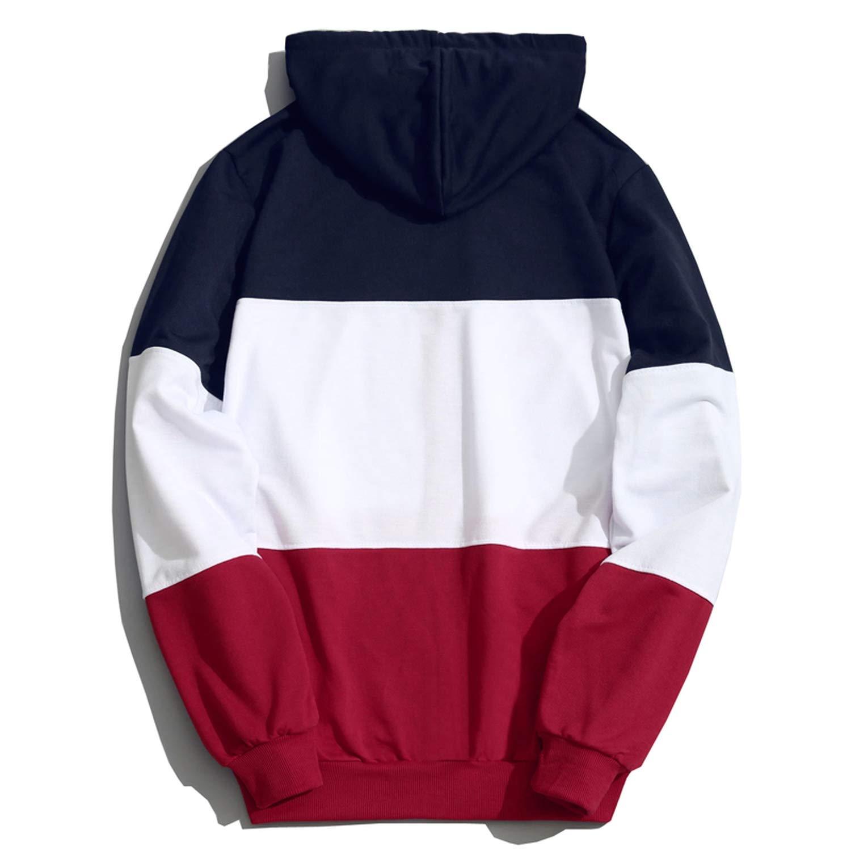 Amazon.com: Fashion Hoodies Men Sudaderas Hombre Hip Hop Mens Brand Patchwork: Clothing