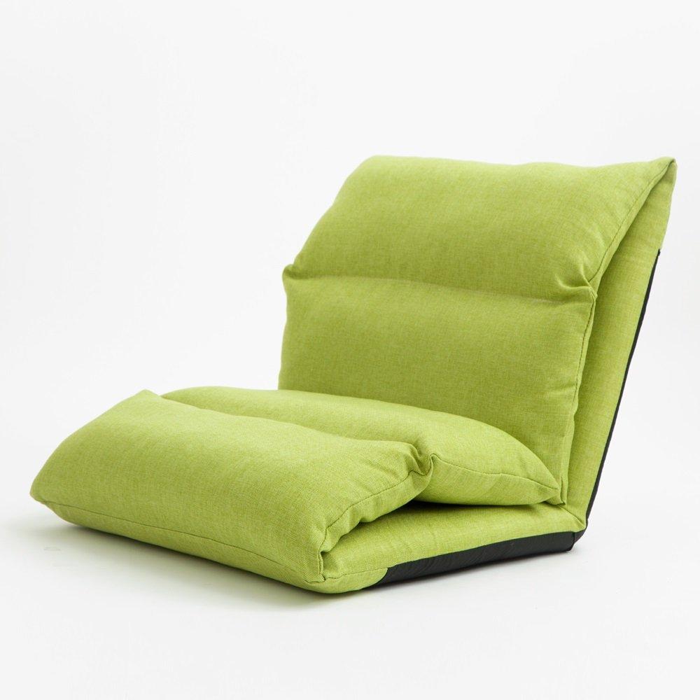 LQQGXL,Cushion, Creative lazy sofa thicker bedside sofa single sofa window sandwich chair ( Color : Green )
