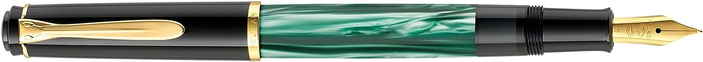 gold plated nib M Pelikan Classic M200 Black Piston Fountain Pen