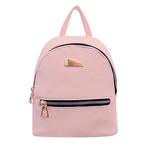70d9bd3b7355 Solid Color Shoulder Bag with Black Zipper Cloth   Golden Zipper PU Leather  Mini Backpack Casual Shoulder Bag for Women  Amazon.ca  Shoes   Handbags