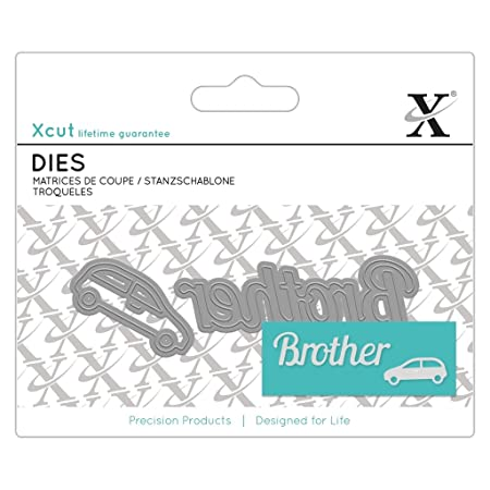 Xcut Docrafts Mini Sentiment Brother Paper Card Craft Metal Die Set 2pcs