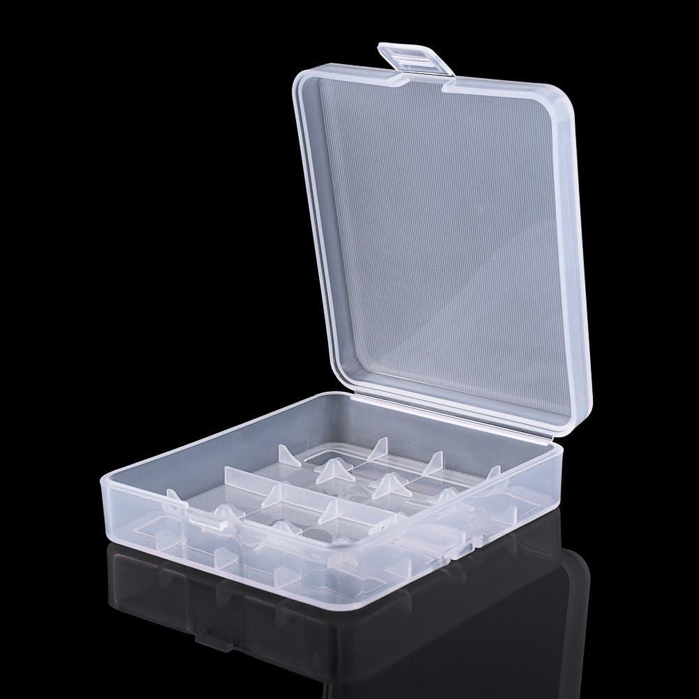 18650 Battery Storage Case Box Organizer Holder White for 10pcs 18650 Batteries