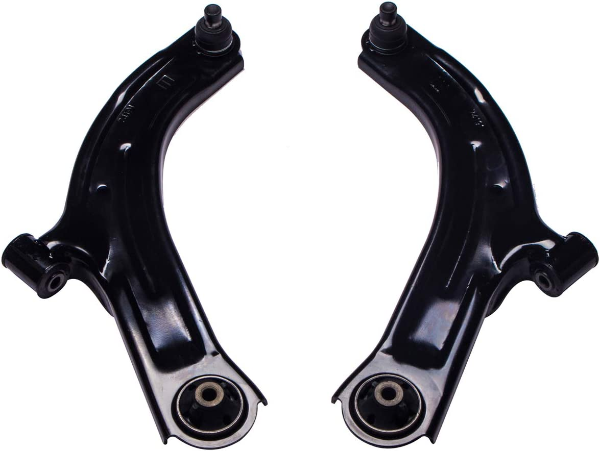 Front Lower Control Arm and Ball Joint Assembly Compatible Nissan Cube Tiida Versa Driver Passenger Side AUQDD 2PCS K620566 K620567 Left Right Professional Suspension