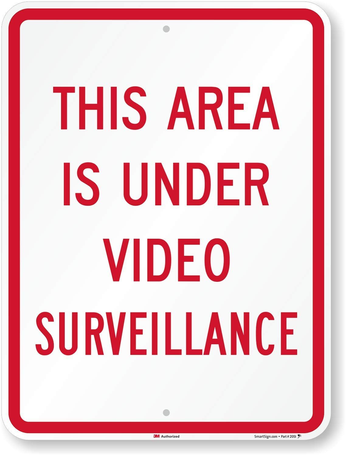 SmartSign ''This Area Is Under Video Surveillance'' Sign   18'' x 24'' 3M High Intensity Grade Reflective Aluminum by SmartSign
