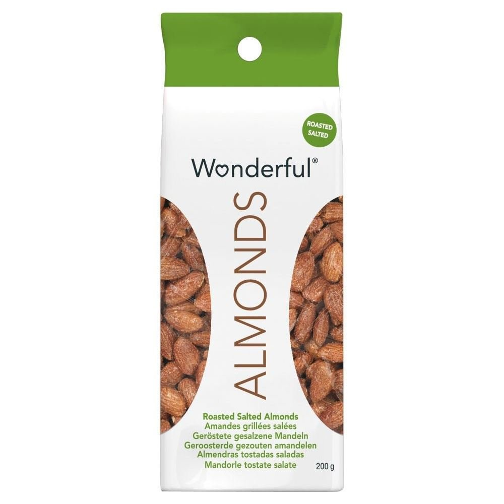 Wonderful Almonds Roasted & Salted (200g) - Pack of 6