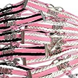 Party Favors, Infinity Dance Charm Bracelet 10 Pack for Dance Theme Party, Gifts for Girls, Birthday Party Supplies for Party Favor Bags, Dance Party for Girls