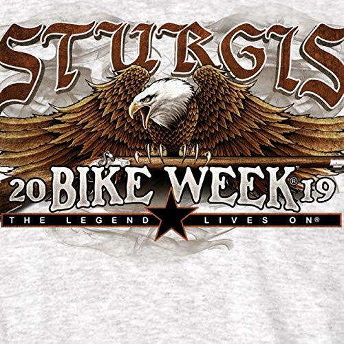 Official 2019 Sturgis Motorcycle Rally We The People Gray T-Shirt ASH Extra Large