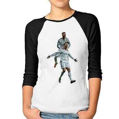 hot sale online f40e5 0dd55 Cristiano Ronaldo & Sergio Ramos Women's Online 100% Cotton ...
