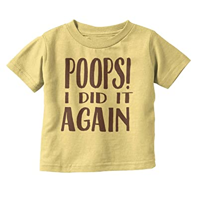 Brisco Brands Poop I Did It Again Funny Shirt | Cool Cute Baby Britney Gift Toddler Infant T