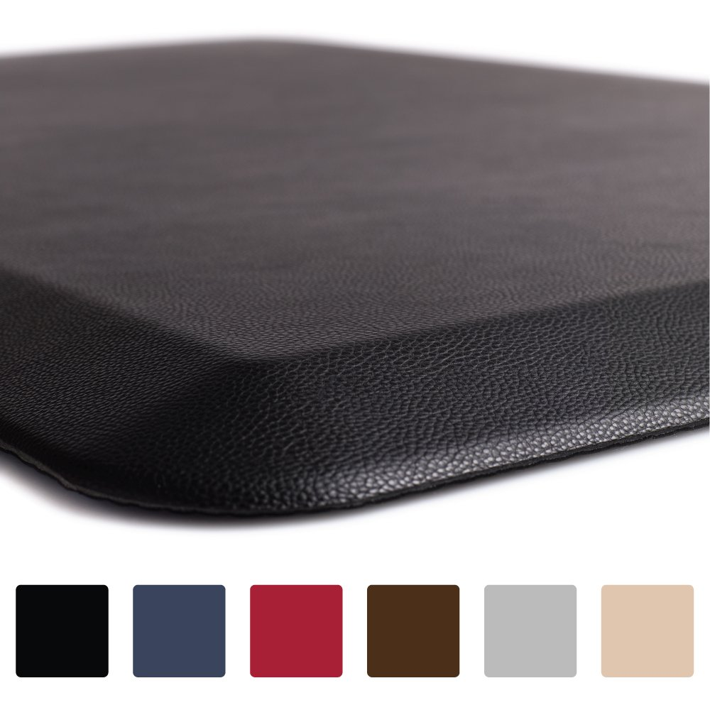 GORILLA GRIP Original 3/4'' Premium Anti-Fatigue Comfort Mat, Phthalate Free, Ships Flat, Ergonomically Engineered, Extra Support and Thick, Kitchen and Office Standing Desk (32x20: Black)
