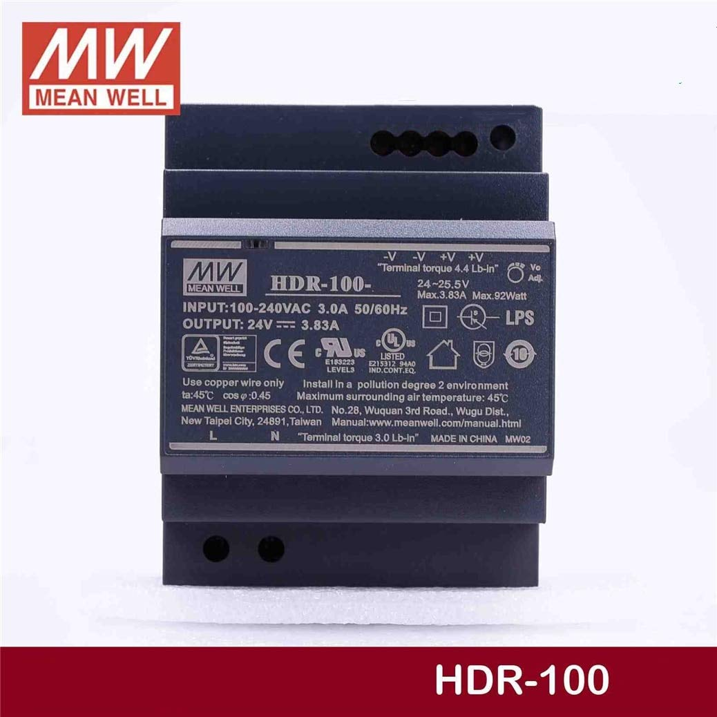 Utini Wholesale Price HDR-100-12 12V 7.1A HDR-100 85.2W Single Output Industrial DIN Rail Power Supply