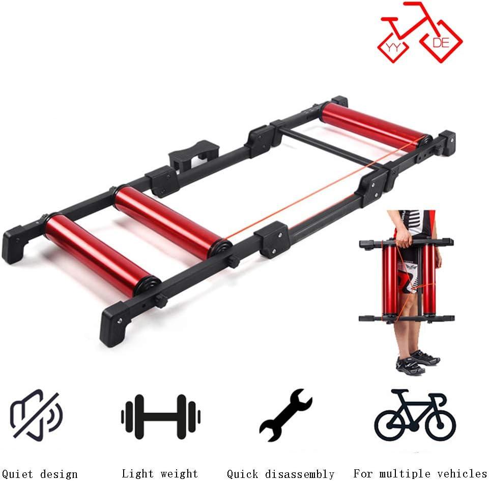 YYDE Soporte de Interior de la Bici Trainer con la Rueda de reducción de Ruido para Bicicleta de Carretera Cubierta Ejercicio Bicicleta estacionaria Ejercicio Rodillo Interior Ciclo Trainer