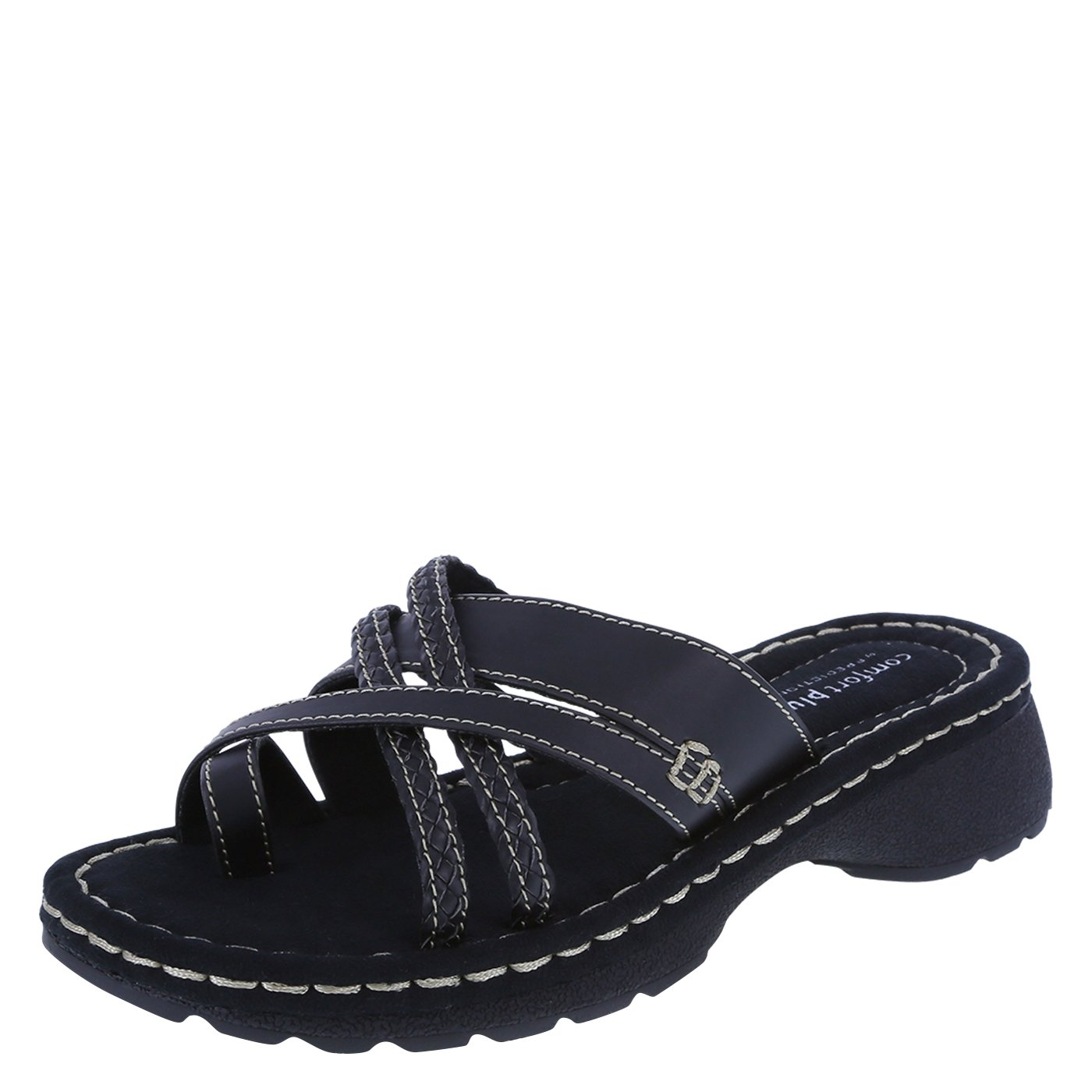 Predictions Comfort Plus by Black Women's Spruce Low Wedge 7.5 Wide